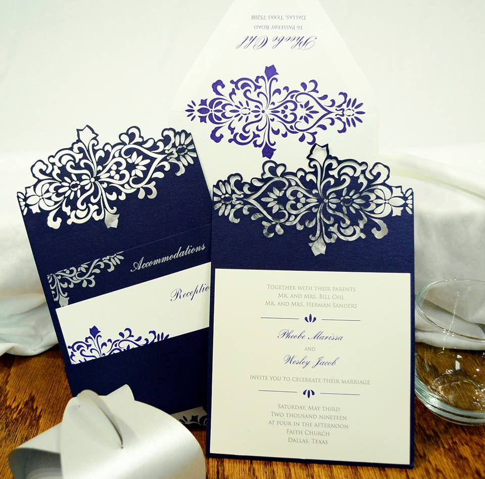 Book an appointment today to customize these invitations with your wedding or pa...